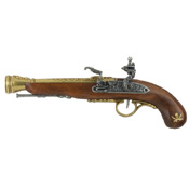 Left-Handed Pirate Flintlock Blunderbuss Brass Finish