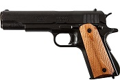 Replica M1911A1 Government Automatic Pistol Non-Firing Gun Black Finish, Light Wood Grips