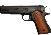 Replica M1911A1 Government Automatic Pistol Non-Firing Gun Black Finish, Dark Wood Grips