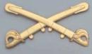 Civil War Kepi Calvary Insignia Brass