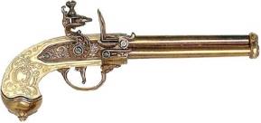 Deluxe Brass Flintlock Pistol