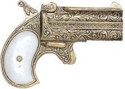 Replica Deluxe Derringer Non Firing - Gold