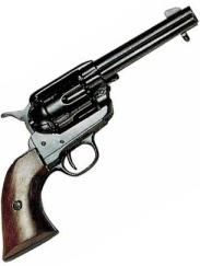 Western Peacemaker Pistol Black Finish